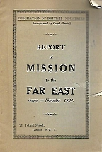 REPORT OF MISSION TO THE FAR EAST AUGUST-NOVEMBER 1934